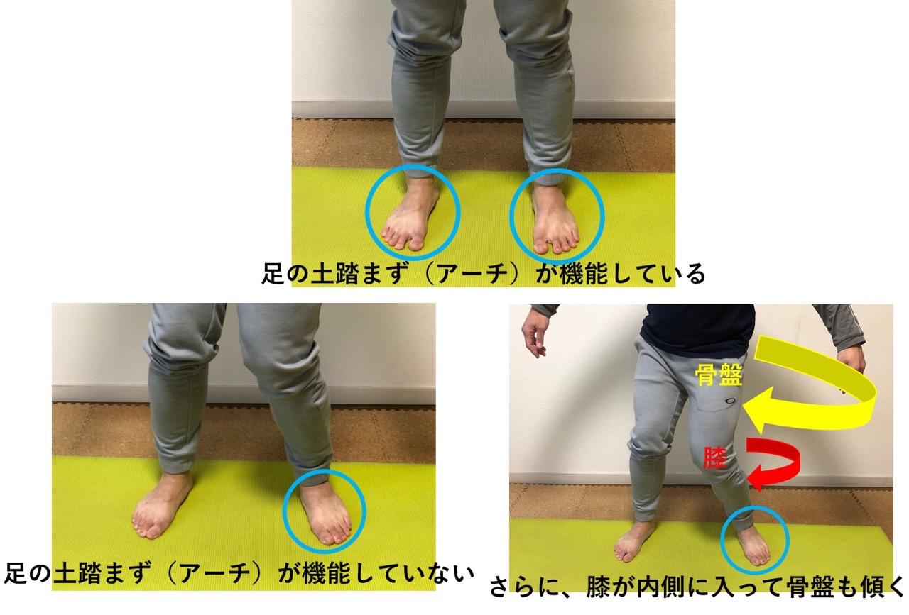 足首と膝の関係