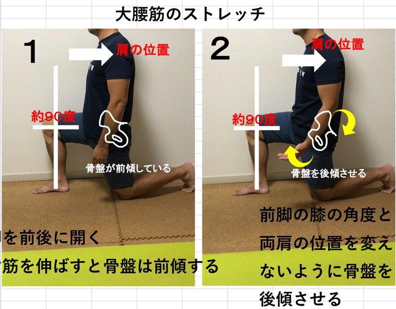 大腰筋のストレッチ
