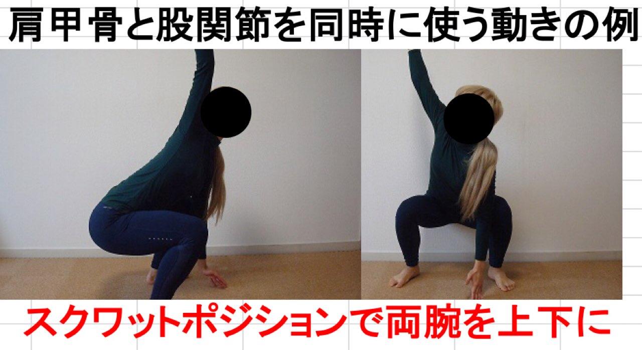 肩甲骨と股関節を同時に使うエクササイズ