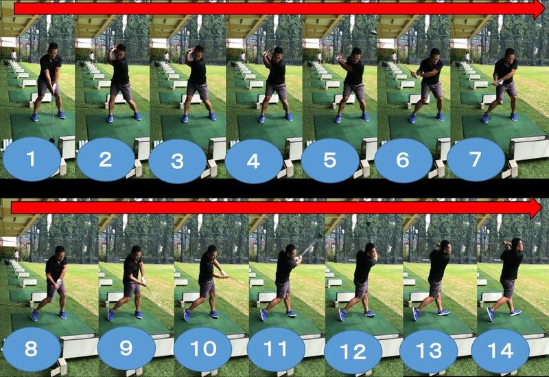 ゴルフスイング連続写真