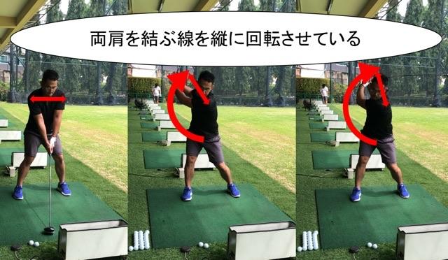ゴルフスイングと両肩
