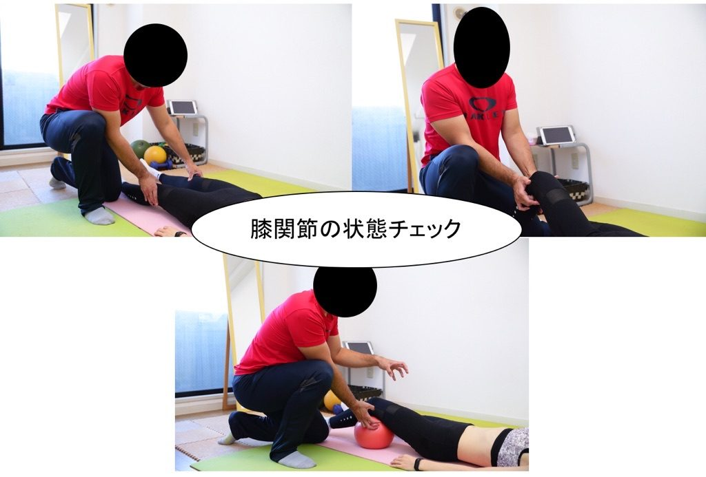 膝関節の状態チェック