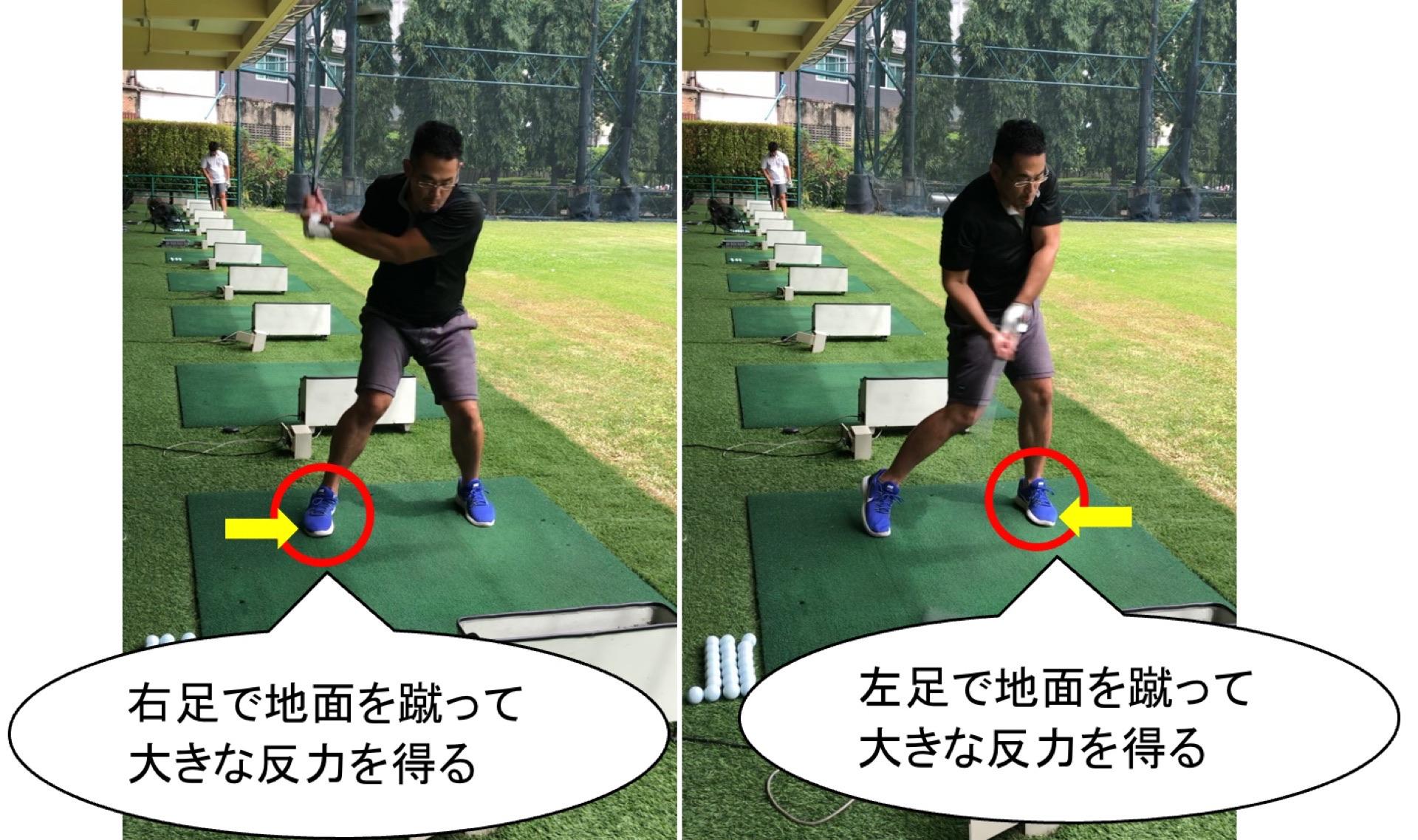 ゴルフの体重移動